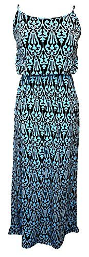Peach Couture® Women's Vibrant Damask Summer Sleeveless Blouson Maxi Dress (Baby Blue/Black, Small) Peach Couture http://www.amazon.com/dp/B00SI5DDSU/ref=cm_sw_r_pi_dp_WB74ub0YBFNVM