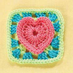 Heart granny square... Free pattern…