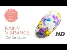 """RAINY VIBRANCE"" Japanese Nail Art ネイル Lesson Tutorial [HD - Quality] - www.Neiru.me - YouTube"