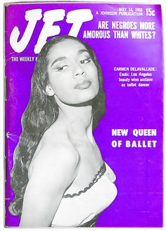 Carmen Delavallade, New Queen of Ballet - Jet Mag, May 14, 1953 by vieilles_annonces, via Flickr