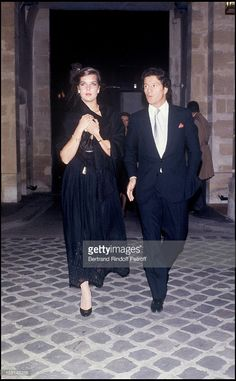 Princess Caroline of Monaco and Philippe Junot attend a party at Palace night club.