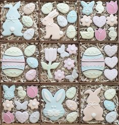 Easter Boxes pastel