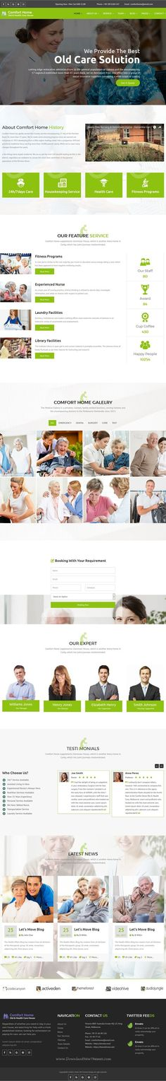 Comfort Home - Old & Health Care HTML Template  #activities, #assisted living, #care services, #dementia care, #doctor, #elderly care, #health, #health care, #hospital, #medical template, #nursing home, #old care, #retail, #senior, #service, #site-templates, #retail, #health-beauty  The Template Comfort Home is a prefect theme and worked for Assisted living, Activities, Care services, Dementia car...