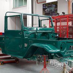 1978 Toyota LandCruiser FJ43 Rustic Green Restoration Update Vintage 4x4 Fj43forsale Fj43