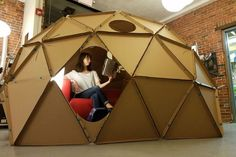How to Build a Geodesic Dome out of Cardboard | Digital Trends More