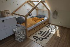 Oryginalne produkty do wyposażenia dziecięcych wnętrz! Teak, Toddler Bed, Basket, Adventure, Furniture, Design, Home Decor, Child Bed, Baskets
