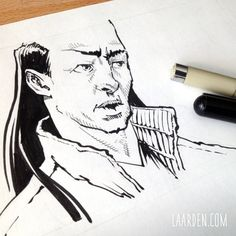 Fallstreak #comic. Pocket brush pen from @pentelofamerica