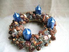 adventi koszorú 30cm Ornament Wreath, Ornaments, Hanukkah, Advent, Wreaths, Home Decor, Room Decor, Christmas Decorations, Decorations