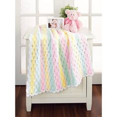 Mary Maxim - Vertical Shells Blanket - Baby