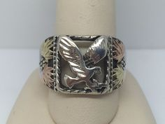 STERLING SILVER BLACK HILLS GOLD MEN'S EAGLE BAND RING SIZE 10.5 | Jewelry & Watches, Men's Jewelry, Rings | eBay!
