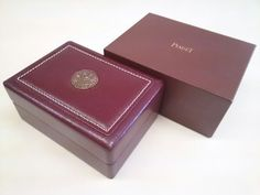 PIAGET VINTAGE RARE WATCH BOX  NICE CONDITION FREE SHIPPING  #Piaget