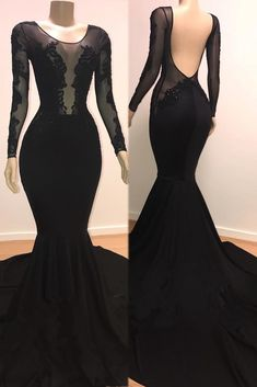 Long Sleeves Black Mermaid Evening Dress from modsele sexy black long prom dress with long sleeves, 2019 mermaid long prom dress with train sexy black long prom dress with long sleeves, 2019 mermaid long prom dress with train Prom Dresses With Sleeves, Sexy Dresses, Beautiful Dresses, Fashion Dresses, Girls Dresses, Formal Dresses, Elegant Dresses For Women, Party Dresses, Pink Dresses