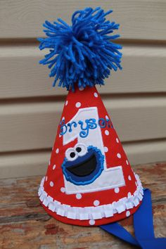 Cookie Monster Birthday Hat