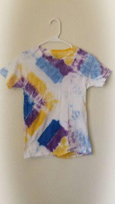 Medium Bright Colored Tribal Diamond Pattern Kids Tie Dye