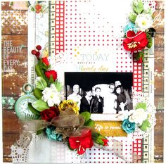 DT work for Scrap Around The World! I created this layout using the Strawberry Fields Collection by Webster's Pages, Manor House Creations and Prima Marketing flowers, Scrapbook Adhesives by 3L and the November 2014 Mood Board! Come play along with us during the month of November – there are fabulous prizes to be won! #papercrafting #scrapbooking #websterspages #manorhousecreations #primamarketing #petaloointernational #americancrafts #strawberryfields #flyingunicornllc…