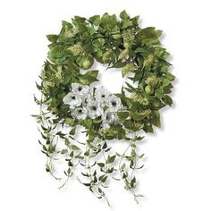Shirebrook Wreath   Frontgate Lemon Leaves, Pet Home, Furniture Covers, Spring Recipes, Luxury Home Decor, Clematis, Bar Stools, Berries, Floral Wreath