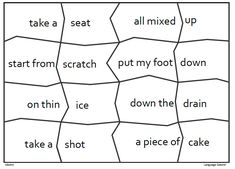 Idioms – word lists, worksheets, activities, and Idioms Words, On Thin Ice, Give It To Me, How To Get, Drive Me Crazy, Take A Shot, Figurative Language, Calm Down, Figure It Out