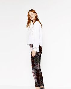 Image 5 of EMBROIDERED POPLIN TOP from Zara