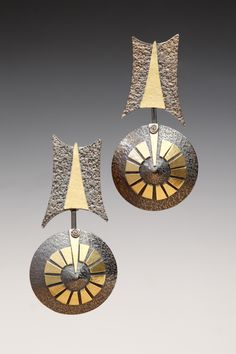 Lona Northener - Sterling Silver, 18K Gold Bimetal, Oxidized