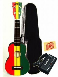 Kala KA-SREG Ukadelic Series Soprano Ukulele Bundle with Hard Case, Tuner, and Polishing Cloth - Tri-Color Reggae by Kala. $108.00. Bundle includes Kala Ukadelic Series Tri-Color Reggae Soprano Ukulele with Hard Case, Tuner, and Polishing Cloth. Ukadelic captures all that is fun about the ukulele. These colorful ukes incorporate art, culture and humor into their design. They are extremely playable and well made. We like em' and we think that you will too. We will go s...