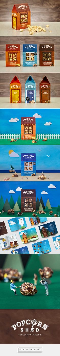 Popcorn Shed packaging design by White Bear Studio - http://www.packagingoftheworld.com/2017/03/popcorn-shed.html