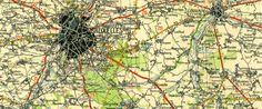 Brussel kaart, Michelin, 1/200.000, Bruxelles-Liège, 1930