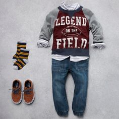 Check out The Children's Place for a great selection of kids clothes, baby clothes & more. Boys Fall Fashion, Toddler Boy Fashion, Toddler Boy Outfits, Cute Outfits For Kids, Baby Outfits, Girl Fashion, Toddler Swag, Toddler Pants, Toddler Boys