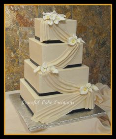 purple and green wedding cakes calla lily - Google Search