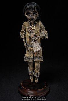 Mummy Art Doll Sculpture – M42 by Shain Erin