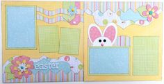 Easter Premade 2 Page 12x12 Scrapbook by GLOwormpaperdesigns