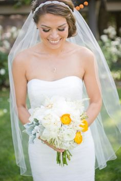 Grey and Yellow Bride