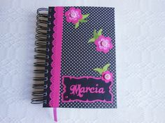 Agenda personalizada para a amiga Márcia.