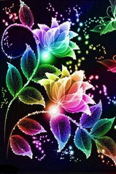 beautiful glittering flowers | Android Live Wallpaper Gallery