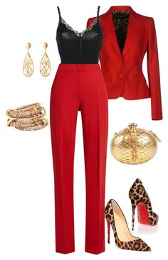 """Pant Suit Date Night"" by stylistinme ❤ liked on Polyvore featuring Dolce&Gabbana, STELLA McCARTNEY, MaxMara, Christian Louboutin, Philipp Plein, Christina Greene and SPINELLI KILCOLLIN"