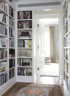 a library in the hallway- very clever- Library Design, Pictures, Remodel, Decor and Ideas - page 10