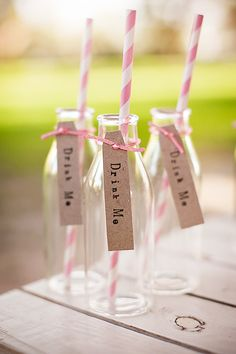 Alice in Wonderland party ideas-Drink me potion