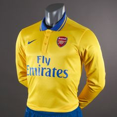 MOST WANTED Nike Arsenal Away Replica LS Shirt - Gold/Royal