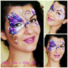 Yes, I know, it is purple again, but this is the most popular color request I get from girls. #FacePainting