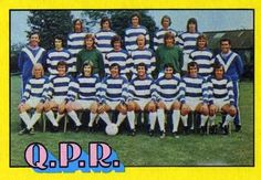 1974-75 A&BC Gum #93 Queens Park Rangers Team Front