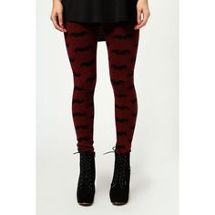 Sammi Moustache Thick Knit Leggings ($24) ❤ liked on Polyvore