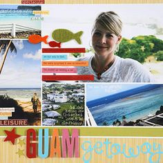 SCRAPBOOK VACATION PHOTOS IN AN EASY SQUARE COLLAGE TEMPLATE
