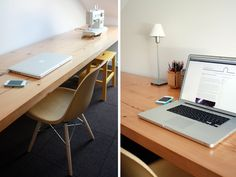 long wood desk