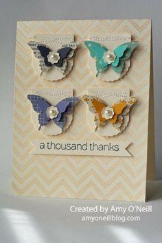 Schmetterlingskarte süß