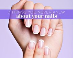Things You Never Knew About Your Nails Increase your nail knowledge for prettier, healthier-looking tips.Increase your nail knowledge for prettier, healthier-looking tips. Nutrition Education, Toenail Fungus Vinegar, Split Nails, Basic Nails, Healthy Nails, Stay Healthy, Healthy Skin, Holiday Nails, Cookies Et Biscuits