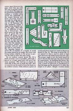 Build a Basement Golf Course (Jun, 1950)
