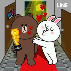 Bunny And Bear, My Teddy Bear, Big Bear, Cony Brown, Brown Bear, Browning Tattoo, Bear Gif, Cute Love Cartoons, Cute Love Gif