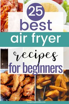 The air fryer uses little to no oil to cook delicious, simple and healthy meals. Here are 25 must have air fryer recipes for the beginner. Air Fryer Oven Recipes, Air Frier Recipes, Air Fryer Dinner Recipes, Air Fryer Recipes Potatoes, Air Fryer Cooking Times, Cooks Air Fryer, Cooking Recipes, Healthy Recipes, Meal Recipes