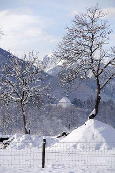 Panorama con neve . Enemonzo (UD)