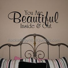 Every child needs to remember this! What a great way to let him know every day of your love with this vinyl wall decal over the bed or dresser. $15.95