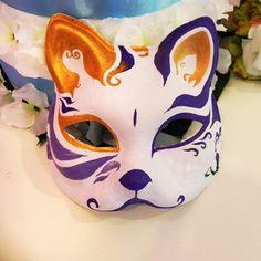 Halbe gesicht Hand- gemalt japanische fuchs-maske bunte muster Kitsune cosplay maskerade für eine party halloween
